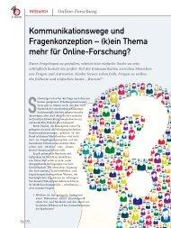 (k)ein Thema mehr für Online-Forschung? - marke41