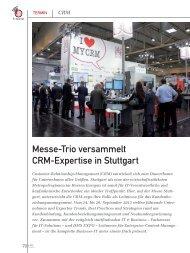 Messe-Trio versammelt CRM-Expertise in Stuttgart (PDF) - marke41