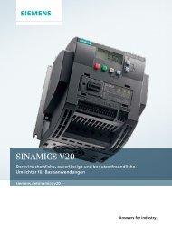 Sinamics V20, 2013 (PDF-Datei, 1.882KB)