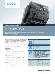 Sinamics V20 Kurz, 2013 (PDF-Datei, 415KB)