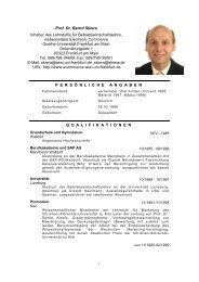 Curriculum Vitae - Goethe-Universität