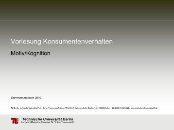 Motiv/Kognition - TU Berlin