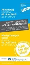 Markgröningen spielt Sonntag 09. Juni 2013 ab 11:00 Uhr ...