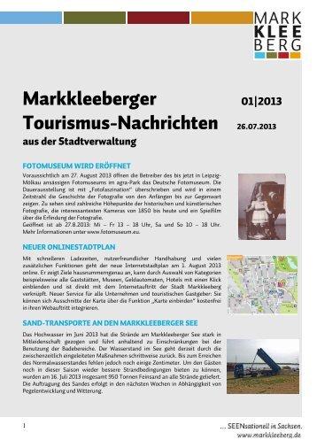 Markkleeberger Tourismusnachrichten 1-2013 - Stadt Markkleeberg