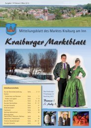 Ausgabe 1 - Februar / März - Markt Kraiburg am Inn