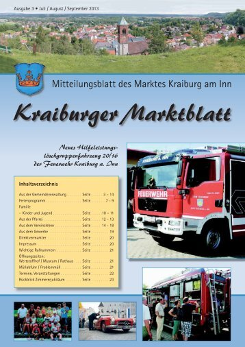 Ausgabe 3 - Juli / August / September - Markt Kraiburg am Inn