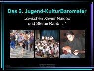 Das 2. Jugend-KulturBarometer - markt.forschung.kultur