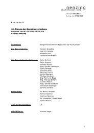 Protokoll 18. GV-Sitzung 2013 - Marktgemeinde Nenzing