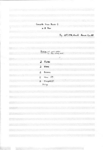 Rosner - Concerto Grosso No. 1, op. 60