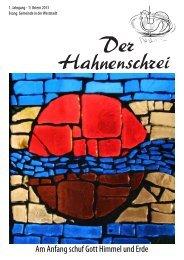 Am Anfang schuf Gott Himmel und Erde - Evangelische Gemeinde ...
