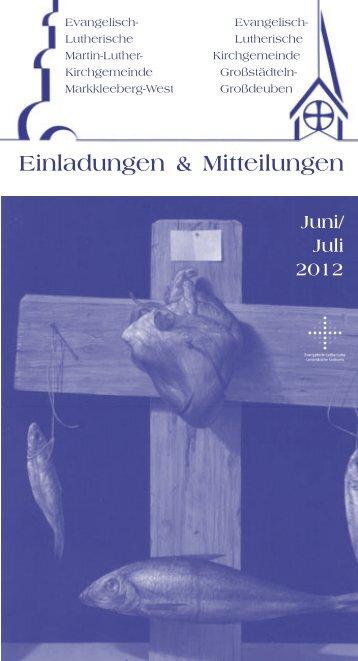 Einladungen & Mitteilungen - Martin-Luther-Kirchgemeinde ...