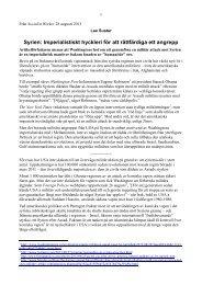 Syrien: Imperialistiskt hyckleri för att rättfärdiga ett ... - Marxistarkiv