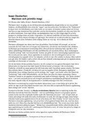Isaac Deutscher: Marxism och primitiv magi - Marxistarkiv
