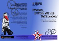 Frauen zurück auf die Barrikaden - Marxistische Aktion Tübingen