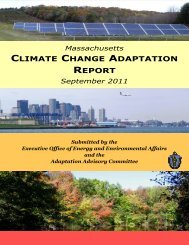 Massachusetts Climate Change Adaptation Report - Mass.Gov