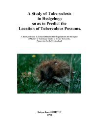 Tuberculosis in New Zealand hedgehogs - Massey University