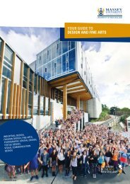 Your Guide to Design and Fine Arts (2663 KB) - Massey University
