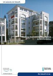 Moderne Elektroinstallationstechnik im Wohnungsbau - Massivhaus ...