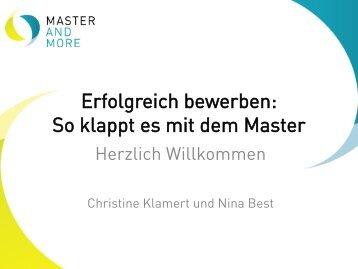 Präsentationsunterlagen zum Download - Master and More