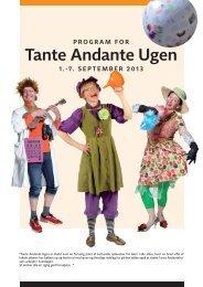 Program for Tante Andante Ugen