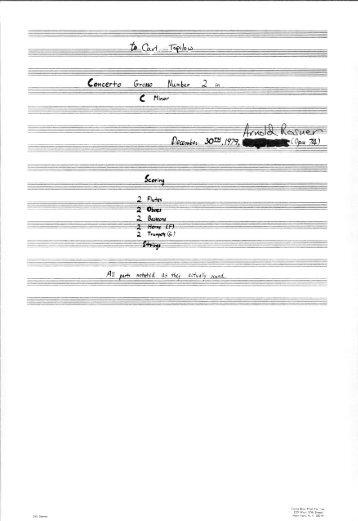 Rosner - Concerto Grosso No. 2, op. 74