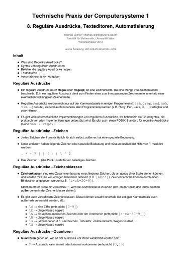 PDF-Version - an der Fakultät für Mathematik! - Universität Wien