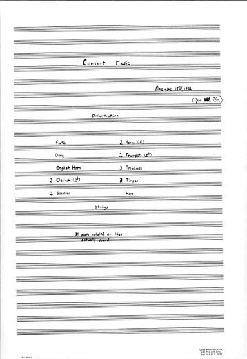 Rosner - Consort Music, op. 75a