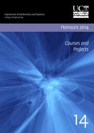 2014 Honours Courses and Projects (PDF, 413 KB) - Mathematics ...