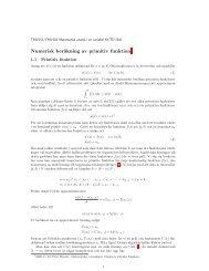 Numerisk beräkning av primitiv funktion1 - Matematiska vetenskaper ...