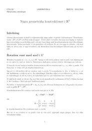 Laboration 6 - Matematiska vetenskaper