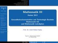 Mathematik III - Herbst 2013 [5mm] Gesundheitswissenschaften und ...