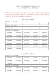 Seating Arrangement for the End-Sem Examination