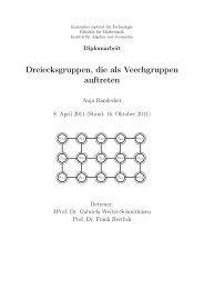 Dreiecksgruppen, die als Veechgruppen auftreten - Fakultät für ...