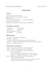 Lebenslauf (PDF-Datei) herunterladen - Fakultät für Mathematik - KIT