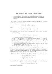 elementare Eigenschaften der Abstandsfunktion