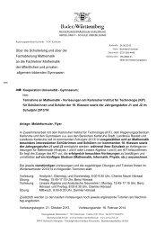 Über die Schulleitung und über die Fachabteilung Mathematik an ...