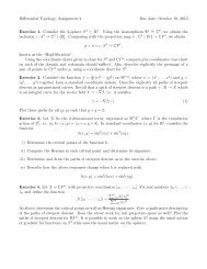 Differential Topology, Assignment 2 Due date: October 10, 2013 ...
