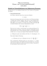 """Folie zur Vorlesung """"Finanz- und Versicherungsmathematik"""" 16.01 ..."""