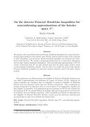 On the discrete Poincaré–Friedrichs inequalities for nonconforming ...