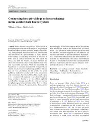 Connecting host physiology to host resistance in the conifer-bark ...