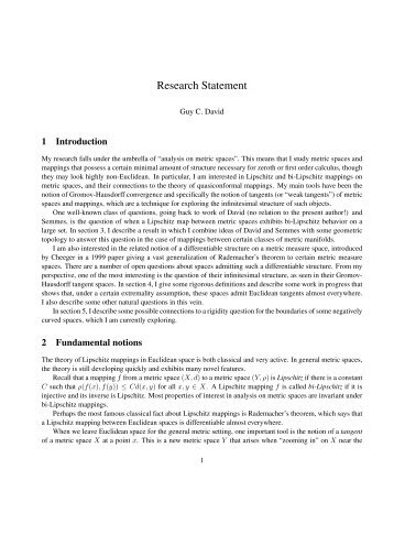 Research Statement - UCLA Department of Mathematics
