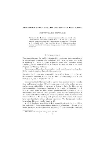 Definable Smoothing of Continuous Functions.pdf - UCLA ...