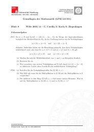 Blatt 8 - Fachbereich Mathematik - Universität Hamburg
