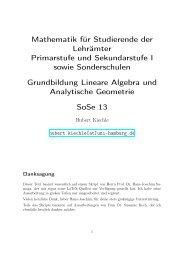 Mathematik für Studierende der Lehrämter Primarstufe und ...
