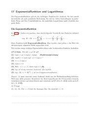 17 Exponentialfunktion und Logarithmus
