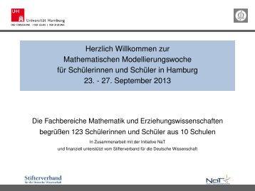 Mathematischen Modellierungswoche - Fachbereich Mathematik