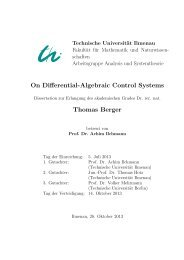 On Differential-Algebraic Control Systems Thomas Berger