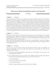 Blatt 4 - Universität des Saarlandes
