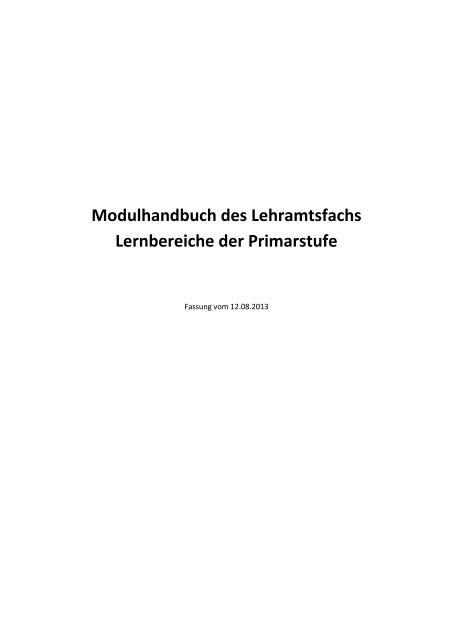 Modulhandbuch mit Studienplan - Mathematik
