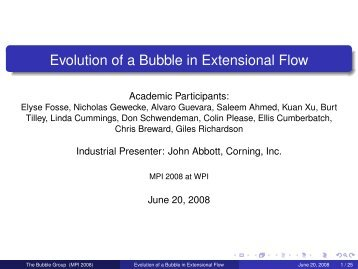 Evolution of a Bubble in Extensional Flow